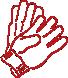 Перчатки трикотажные вязаные двойные